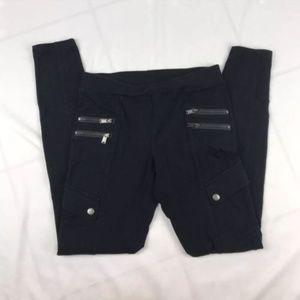 EXPRESS – Size XS Black Zipper Skinny Cargo Pocket